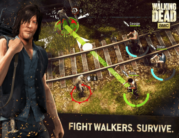 game THE WALKING DEAD: NO MAN'S LAND can canh