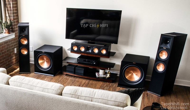 he thong am thanh su dung hai loa subwoofer chat