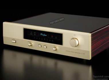 phono preamp Accuphase C 37 mat truoc