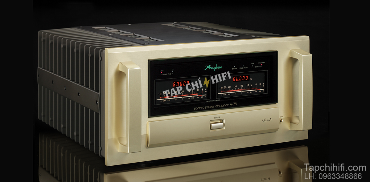 power ampli accphase a 75 nghieng